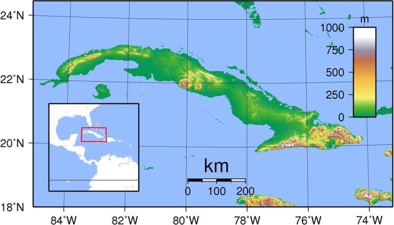 Karte Kuba.Kinderweltreise ǀ Kuba Land