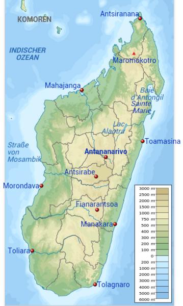 Madagaskar Karte.Kinderweltreise ǀ Madagaskar Land