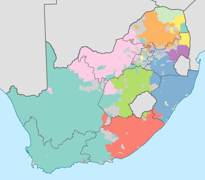 Weißes südafrikanisches Mädchen