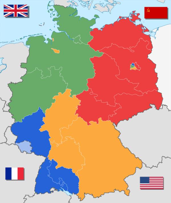 Besatzungszonen Deutschland Heute