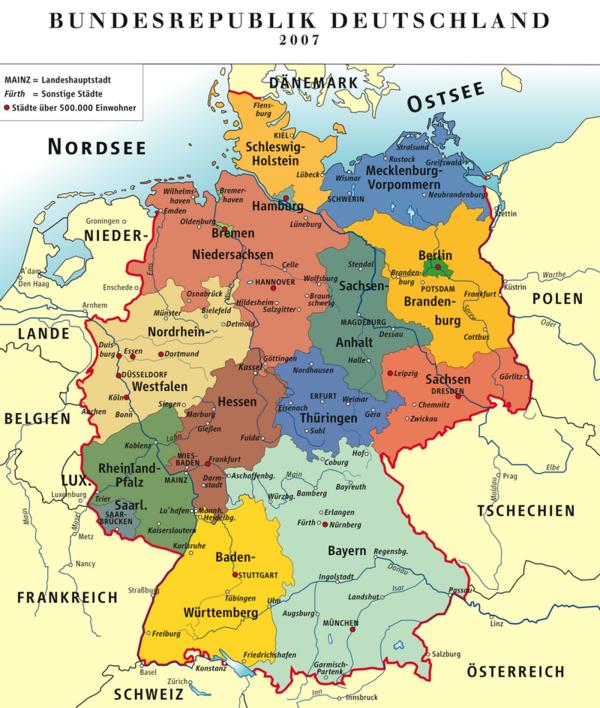 bundesländer und flüsse karte Kinderweltreise ǀ Deutschland   Land
