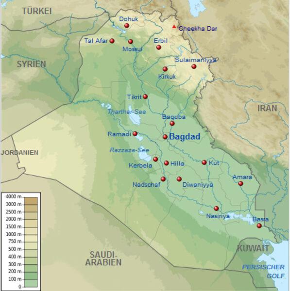 Karte Iran Nachbarlander.Kinderweltreise ǀ Irak Land