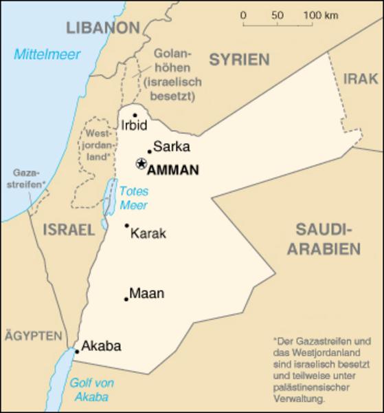 Jordanien Karte.Kinderweltreise ǀ Jordanien Land