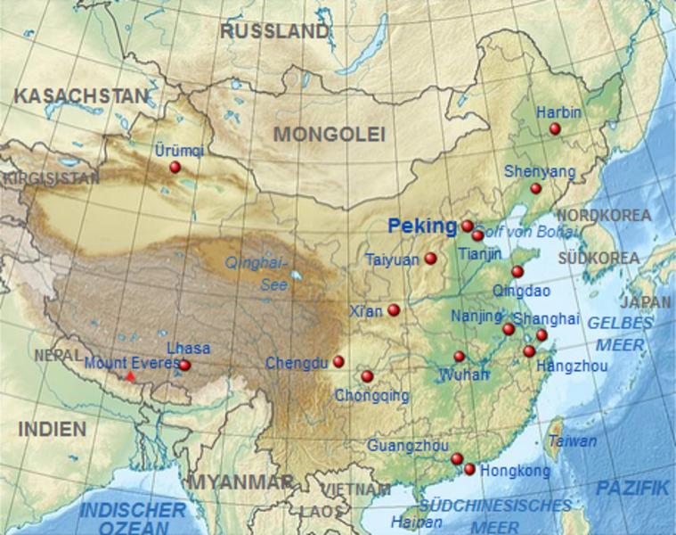 china nachbarländer karte Kinderweltreise ǀ China   Land
