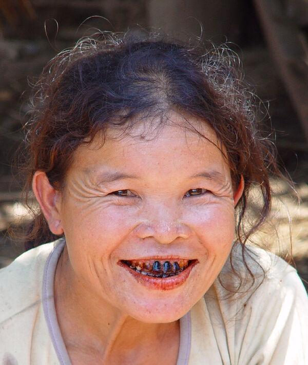 Zähne eklige Hexenmaske mit