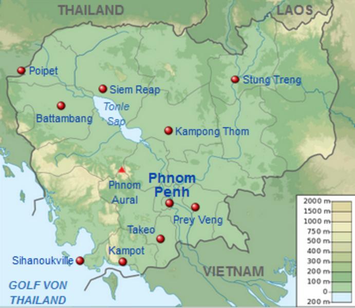 Karte Thailand Kambodscha.Kinderweltreise ǀ Kambodscha Land