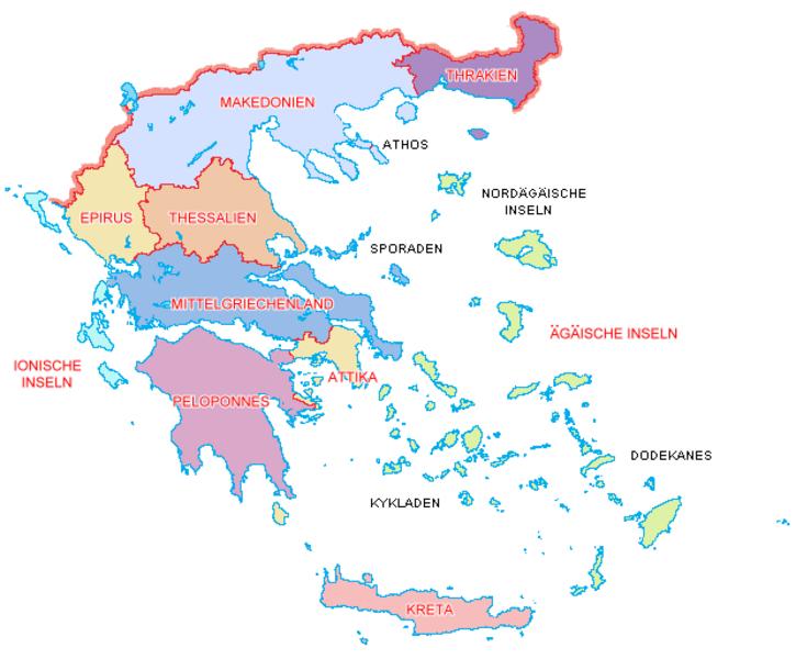 Peloponnes Karte Regionen.Kinderweltreise ǀ Griechenland Land2