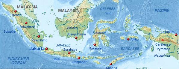 wo liegt indonesien