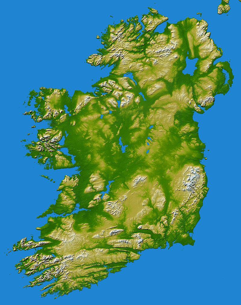 Irland Karte.Kinderweltreise ǀ Irland Land
