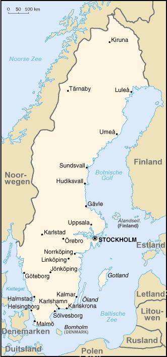 Karte Schweden Regionen.Kinderweltreise ǀ Schweden Land