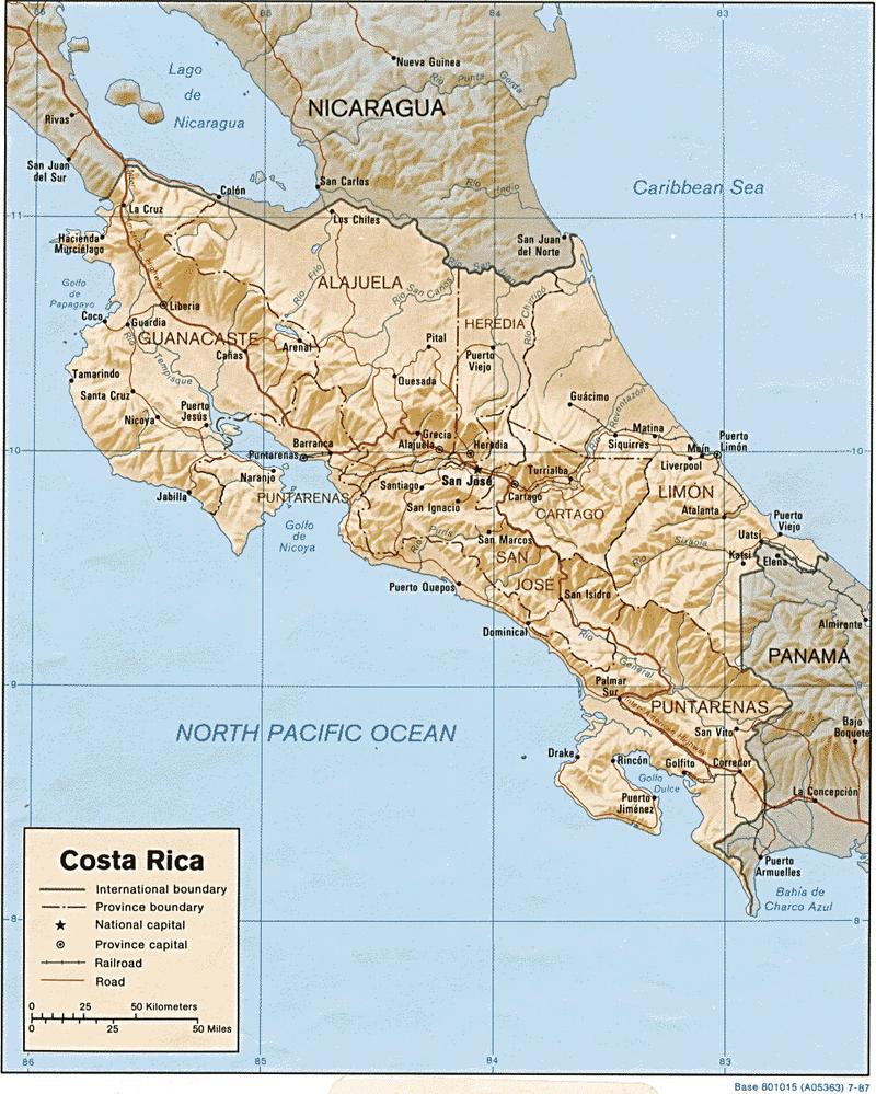 Costa Rica Karte Mittelamerika.Kinderweltreise ǀ Costa Rica Land